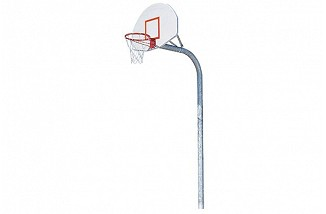Offset Gooseneck Post, Aluminum backboard, Double Rim