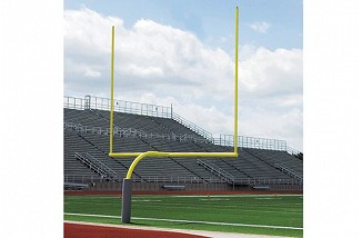 High School Gooseneck Goalposts-White
