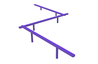 Triple Straight Balance Beam-3L