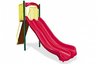 Freestanding 6' Double Velocity Wave Slide