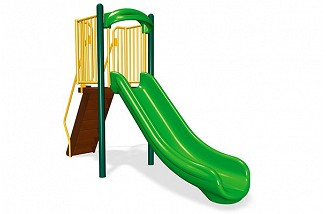Freestanding 4' Single Velocity Slide