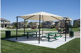 Freestanding Hexagon Shade