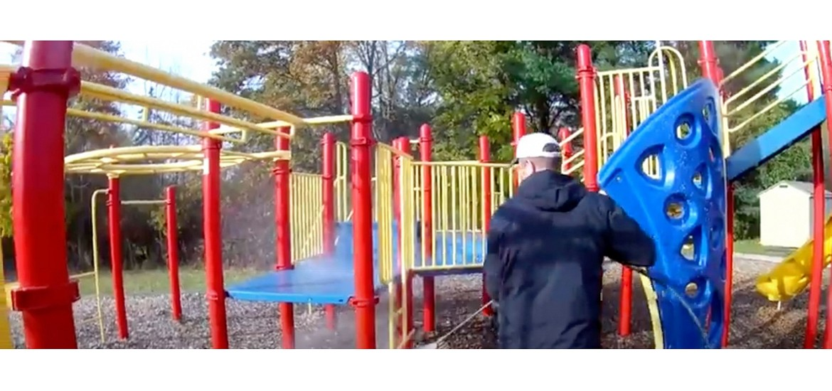 Cleaning and Disinfecting Public Playground Equipment