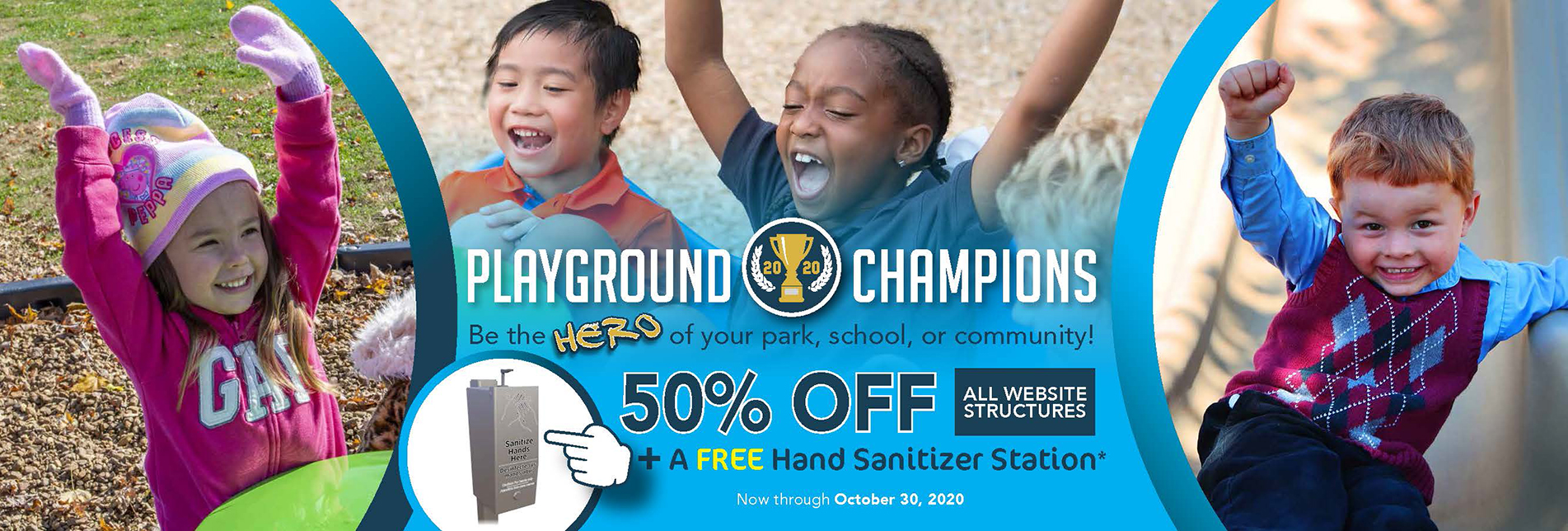 Save 50% off of playground structures